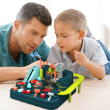 Children Kids Birthday Vehicles Toy Mechanical Inertia Train Toy Racing Track Adventure Game Educational Toys