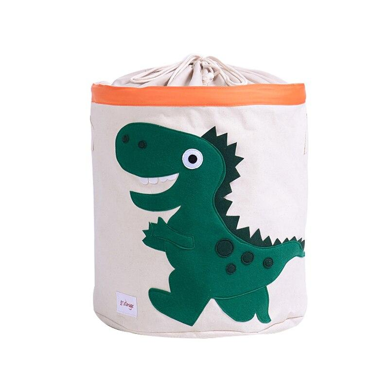 Cute Cartoon Animal Toys Organizer Dinosaur Panda Dog Kids Clothes Laundry Basket Waterproof Folding Toy Storage Box with Cover
