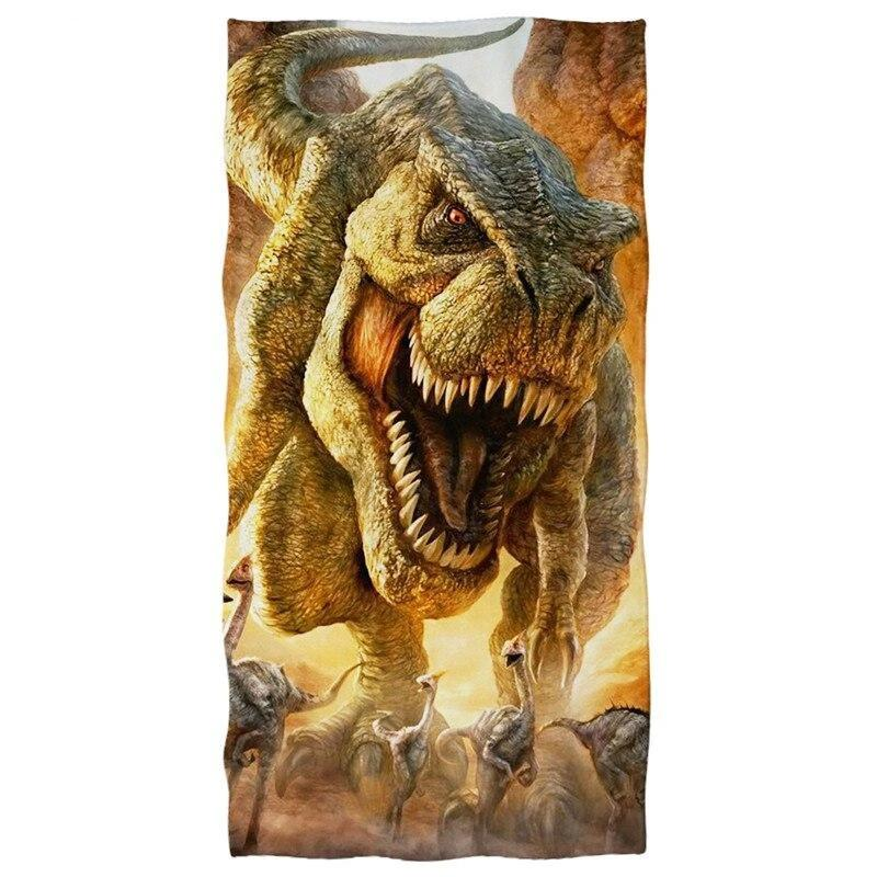 HUGSIDEA Bath Towels Fashion Women 3D Animal Dinosaur Print Beach Towel Men Sport Swimming Yoga Blanket Home Textile Hand Towel