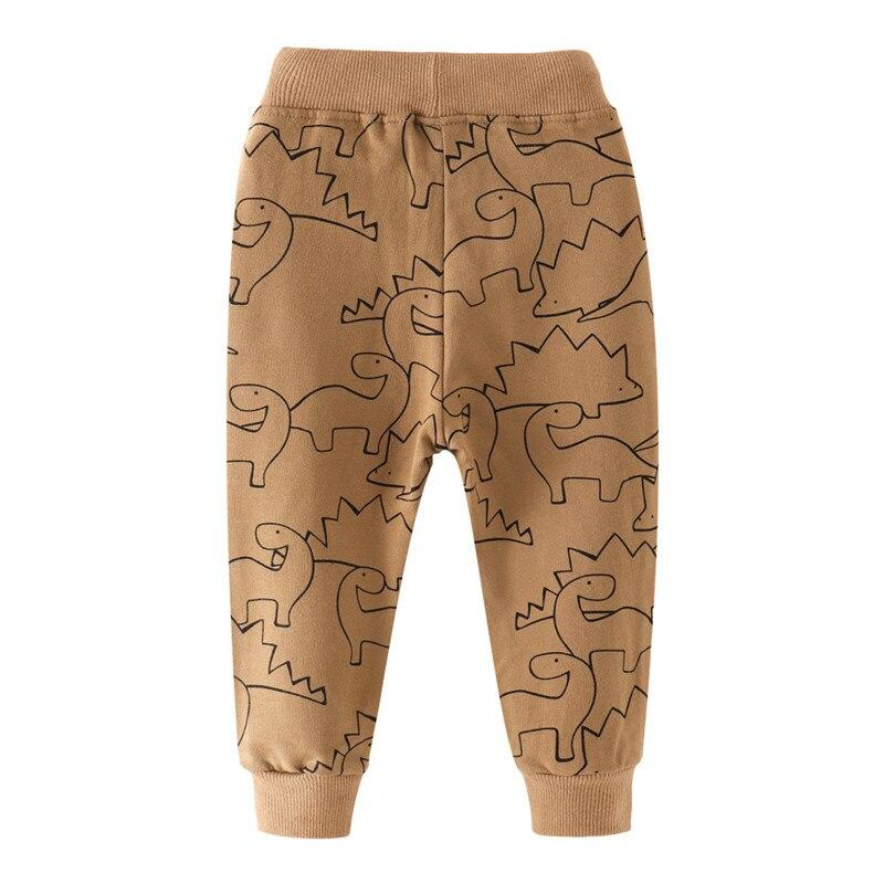 Jumping meters New Arrival Baby Long Pants Dinosaurs Boys Sweatpant Drawstring Fashion Sport Loose Trousers for Children Clothes