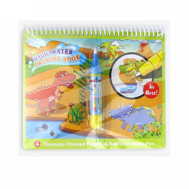 Reusable Magic Water Drawing Book Coloring Book Doodle Pen Cartoon Painting Toys Drawing Board For Kids Education Birthday Gift