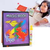 Reusable Magic Water Drawing Book Sets Classic Animals Dinosaur Coloring Book Doodle Pen Painting Board Playset Baby Toddler Toy