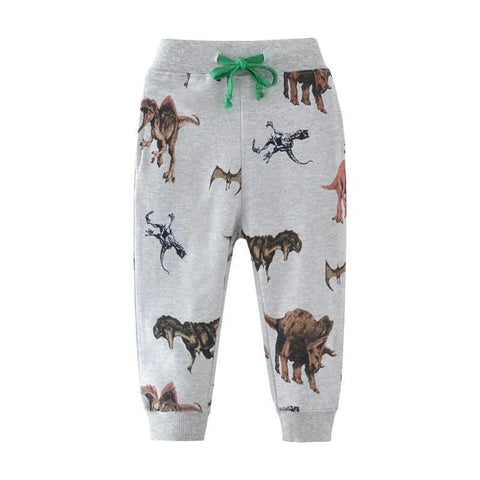 SAILEROAD 2-7T Cartoon Dinosaur Baby Boys Straight Pants For Spring Autumn Children Kids Boys Full Length Sweaterpants Trousers