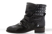 Load image into Gallery viewer, FURY FARA BIKER BOOTS NAPA BLACK SIDE