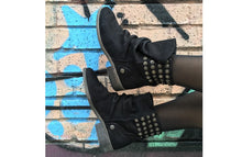 Load image into Gallery viewer, FURY FARA BIKER BOOTS NUBUCK BLACK