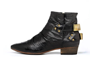 FURY LO ANKLE BOOTS EEL BLACK SIDE
