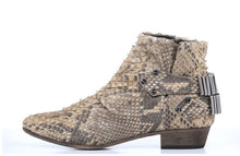 Load image into Gallery viewer, FURY LO ANKLE BOOTS PYTHON BEIGE SIDE