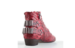 FURY LO ANKLE BOOTS PYTHON RED REAR