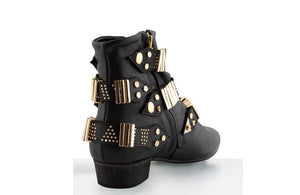 FURY LO GIG ANKLE BOOTS NAPA BLACK GOLD REAR