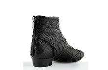 Load image into Gallery viewer, FURY SIA ANKLE BOOTS PYTHON BLACK REAR