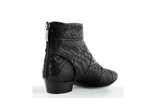 FURY SIA ANKLE BOOTS PYTHON BLACK REAR