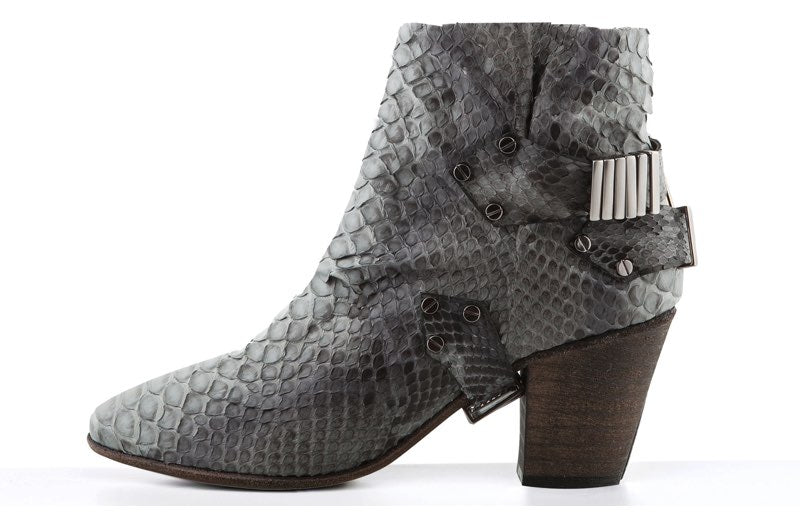 FURY VALI MID HEEL ANKLE BOOTS PYTHON GREY SIDE