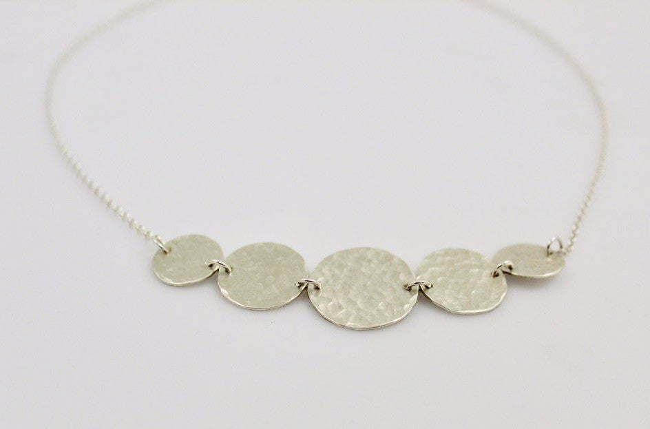 Sterling Silver Five Disc Necklace