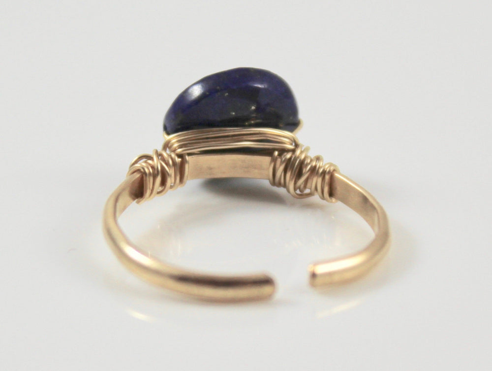 Adjustable Stone Ring - Lapis Lazuli