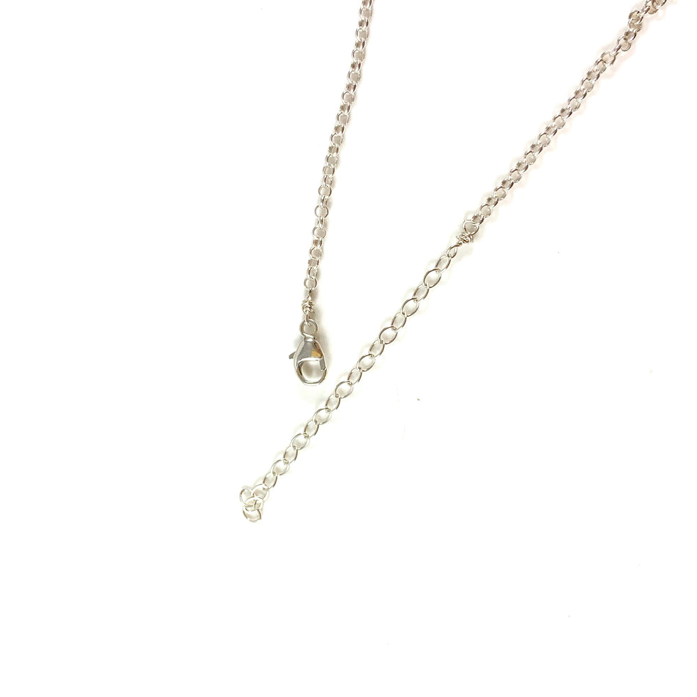 Mini Bar with Gemstone Necklace - Iolite