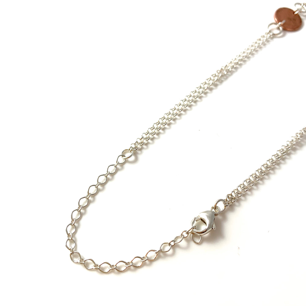Copper Five Disc with Dangles Necklace