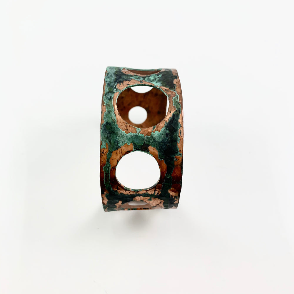 Green Patina Copper Circle Cuff