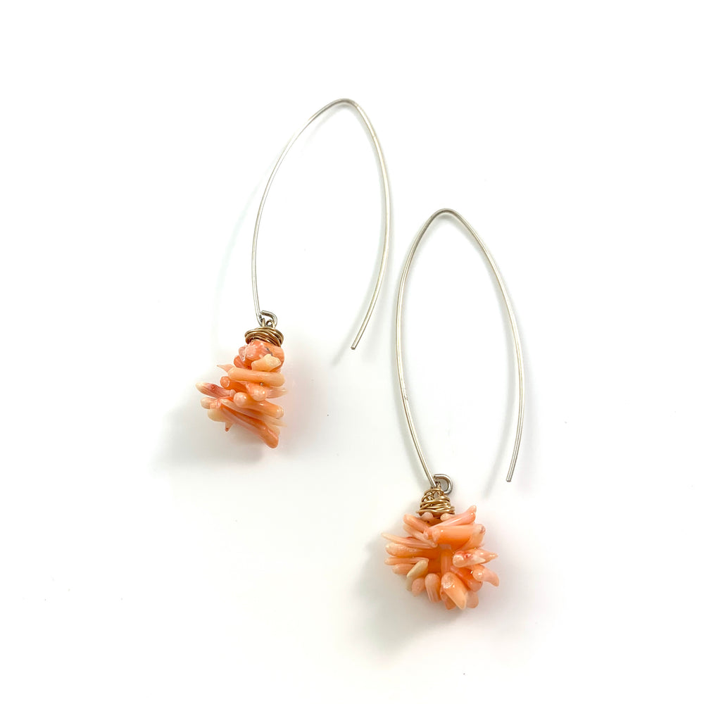 Long Coral Earrings