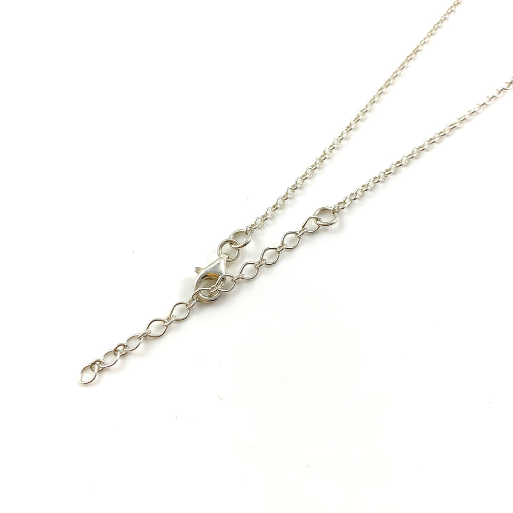 Single Shell Cable & Rolo Chain Necklace