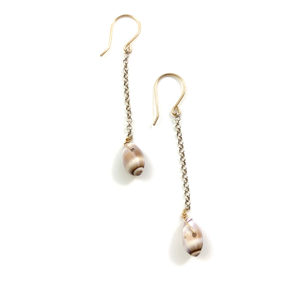 Single Santa Barbara Shell Dangle Earrings
