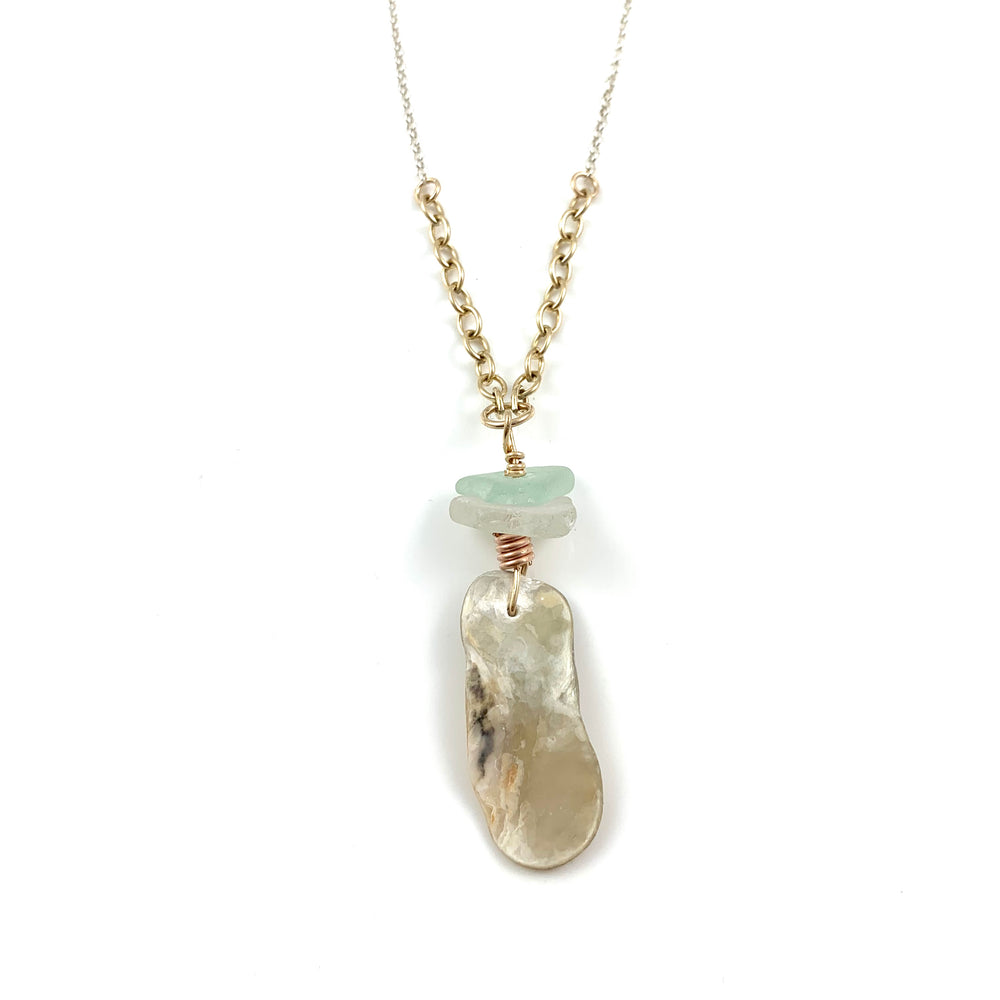 Long Beach Treasure Necklace - Mother of Pearl