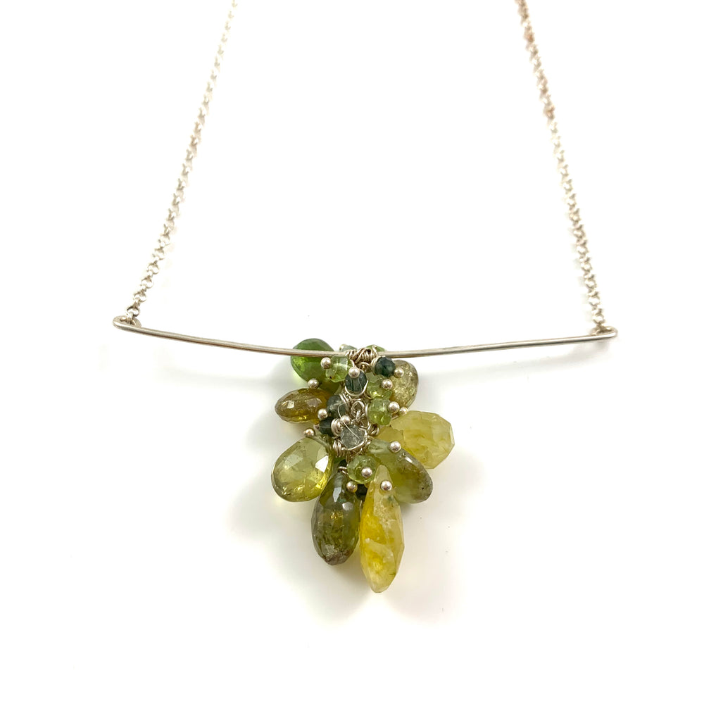 Green Forest Bar Necklace