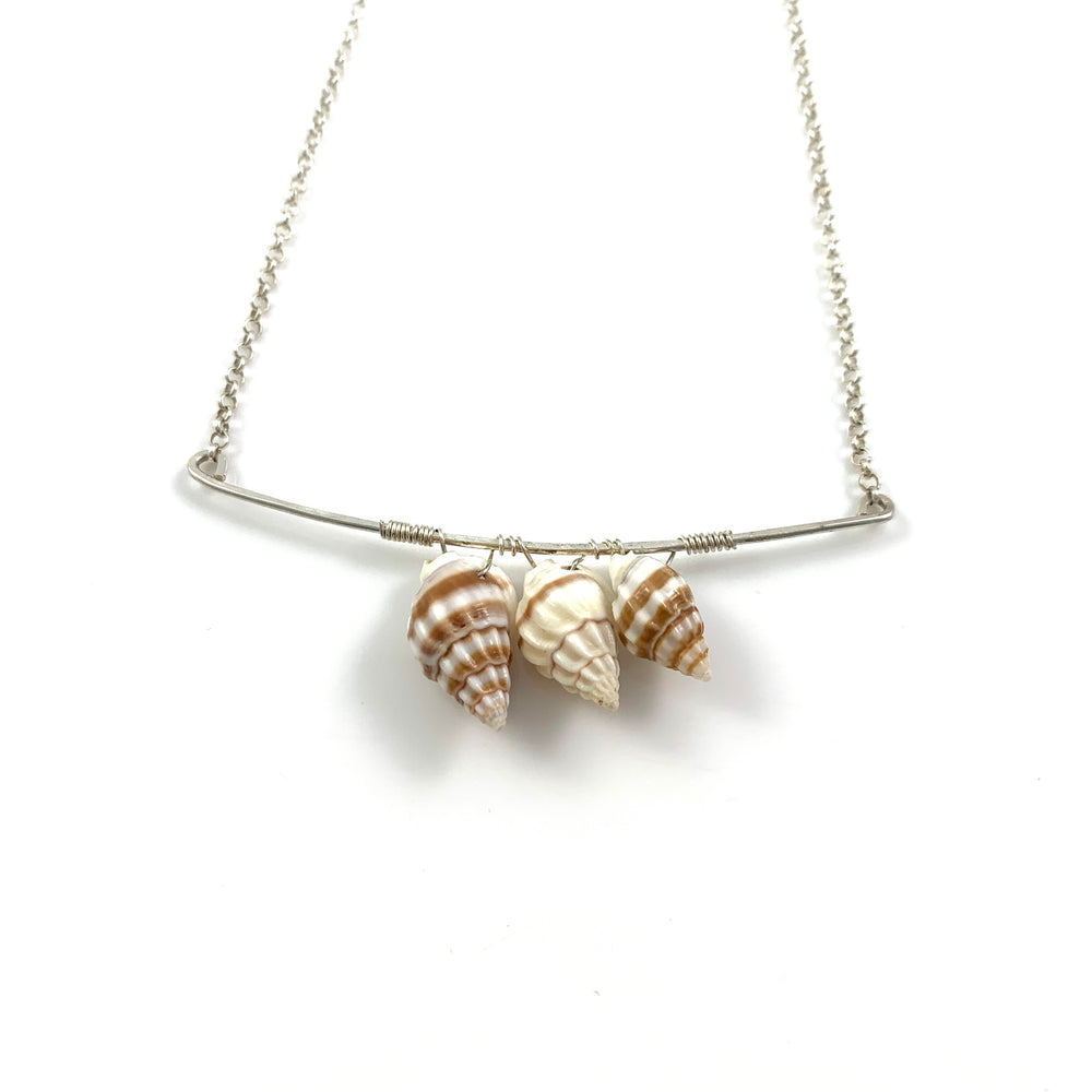 Three Shell Bar Necklace