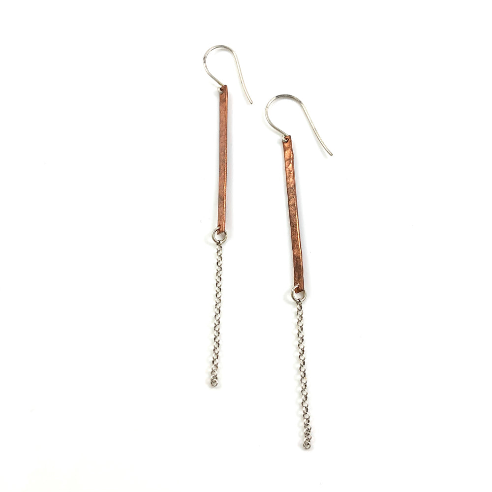 Bar and Chain Dangle Earrings