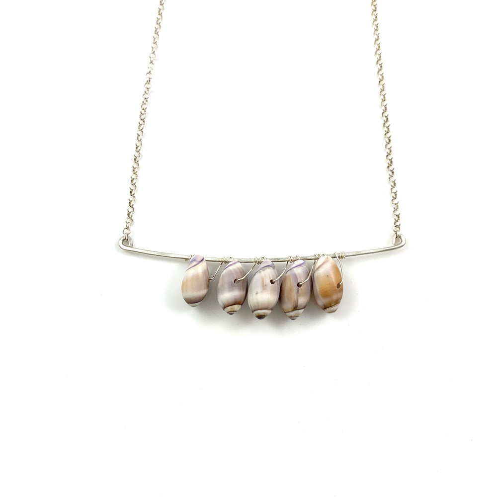 Five Shell Bar Necklace