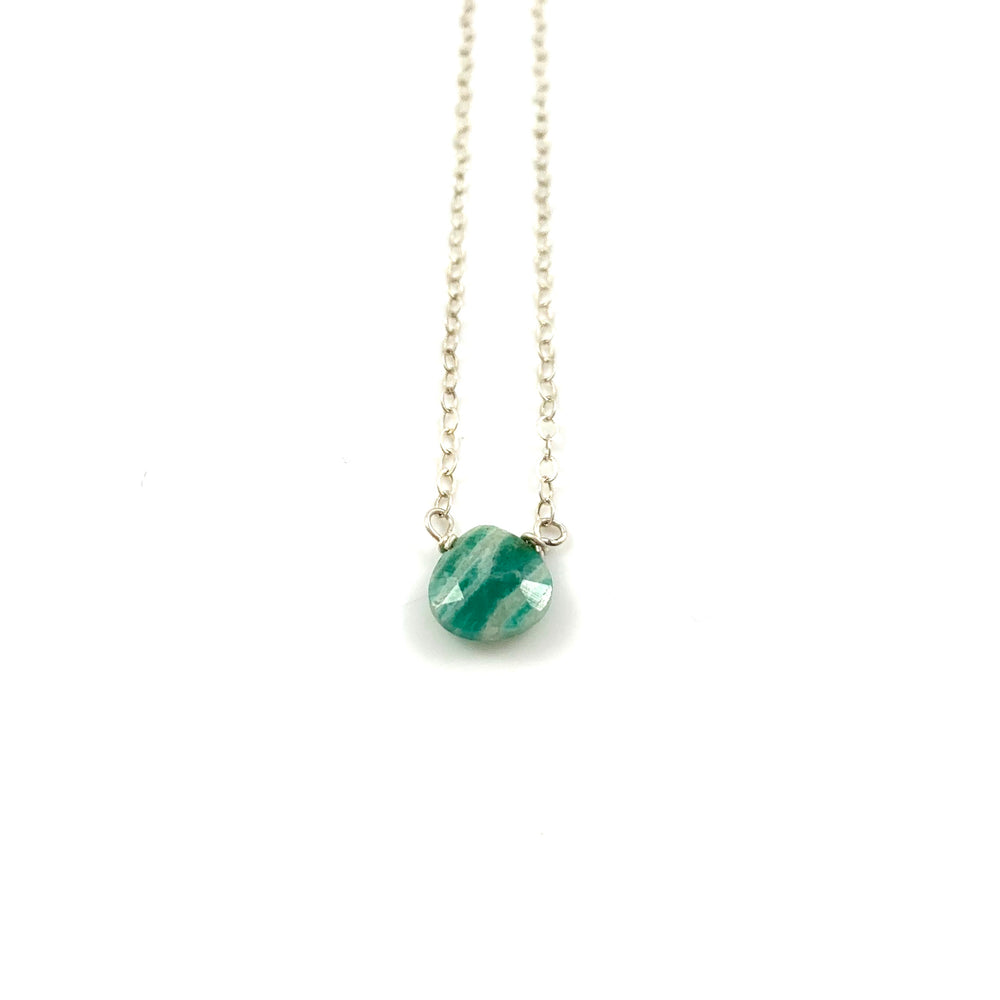 Russian Amazonite Simple Stone Necklace