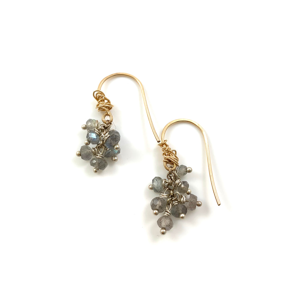 Seven Stone Labradorite Earrings