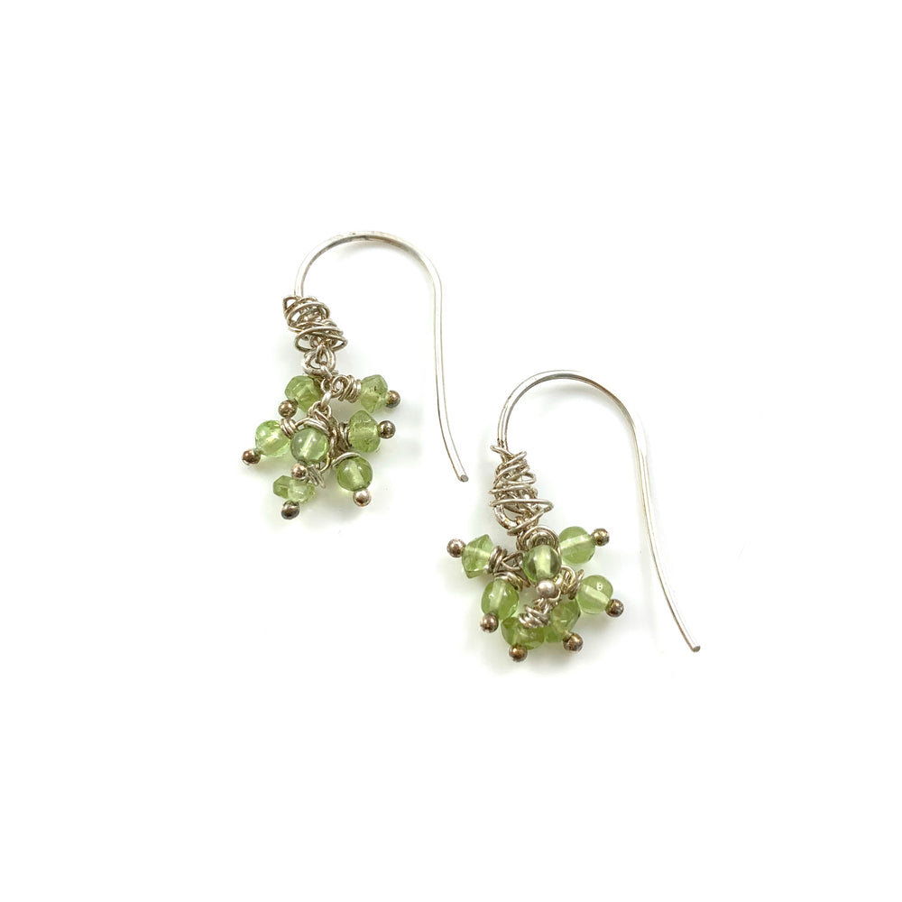 Seven Stone Peridot Earrings