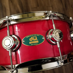 "VERY RARE - DW Craviotto Solid Shell Maple Snare 14"" x 5.5"" - Green Badge W/ Signature"