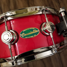 "Load image into Gallery viewer, VERY RARE - DW Craviotto Solid Shell Maple Snare 14"" x 5.5"" - Green Badge W/ Signature"