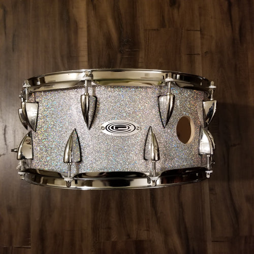 Orange County Drum & Percussion Maple Snare Drum in Halo Flake Finish 14