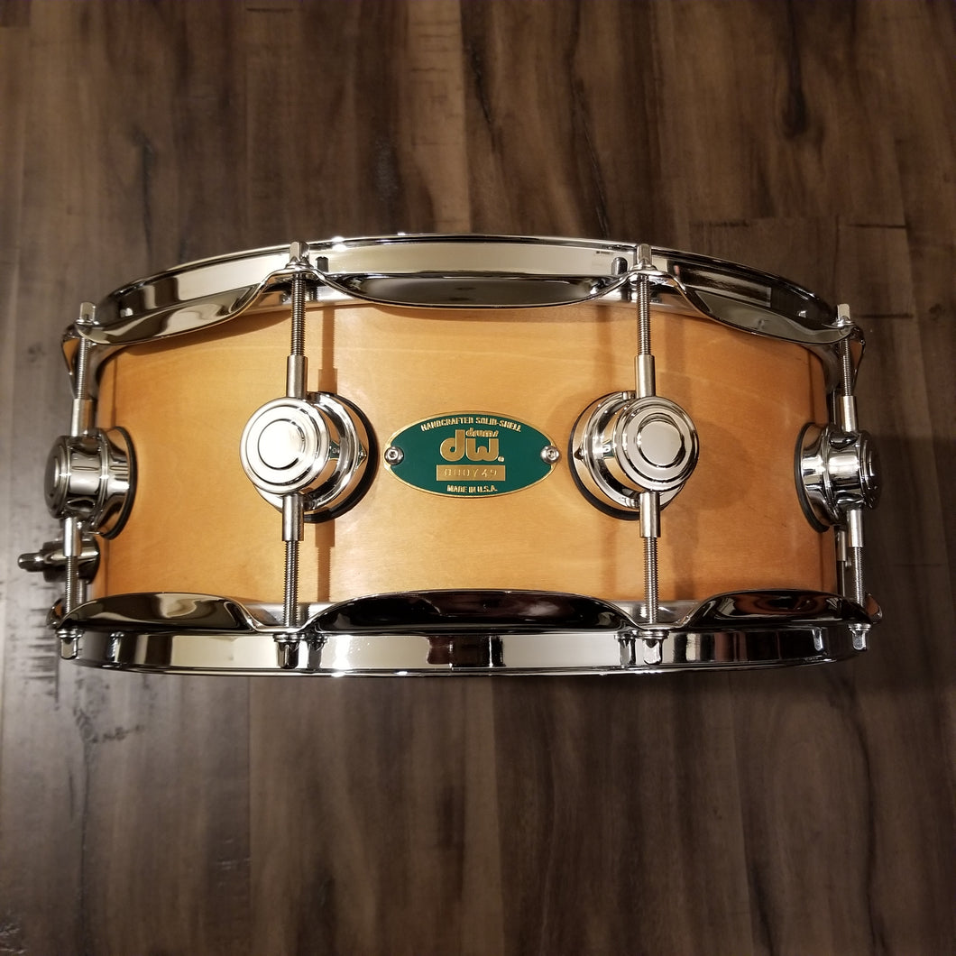 VERY RARE - DW Craviotto Solid Maple Shell Snare 14