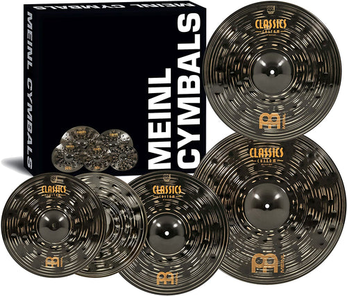 Meinl Cymbals Classics Custom Dark Cymbal Box Set with Free 18