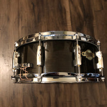 "Load image into Gallery viewer, Pearl Masters Maple Snare - Black Lacquer - 14"" x 5.5"""