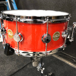 "DW Collector's Series Snare - Tangerine Glass - 14"" x 6.5"""