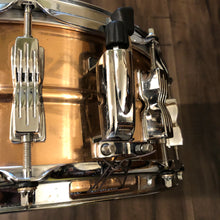 "Load image into Gallery viewer, Ludwig Bronze Rocker Snare Drum - 14"" x 5.5"""