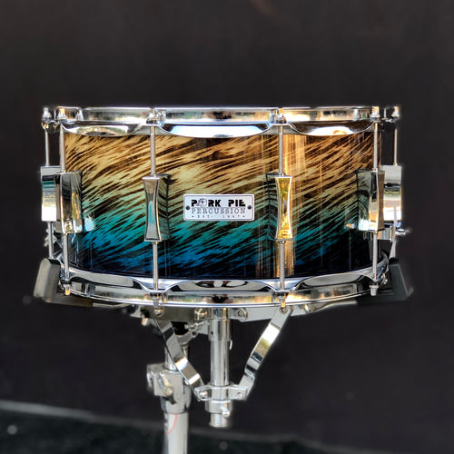 Pork Pie Blue Fade Dip Birch Snare Drum - 14