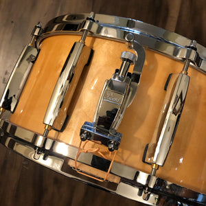 "Pearl Masters Maple Snare - Natural Lacquer - 14"" x 6.5"""