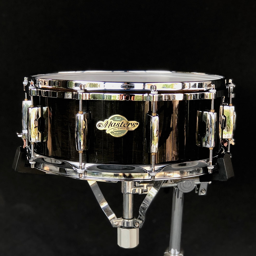 Pearl Masters Maple Snare - Black Lacquer - 14