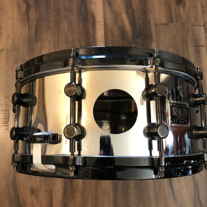 "Spaun Vented Steel Chrome Snare - 14"" x 6.5"""