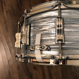 "Ludwig Classic Maple Snare Drum - Vintage Blue Oyster - 14"" x 6.5"" - LIKE NEW"
