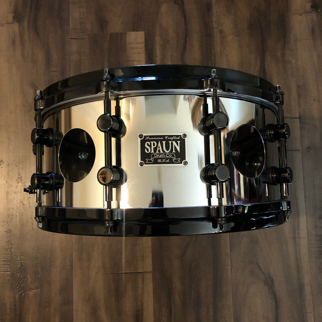 Spaun Vented Steel Chrome Snare - 14
