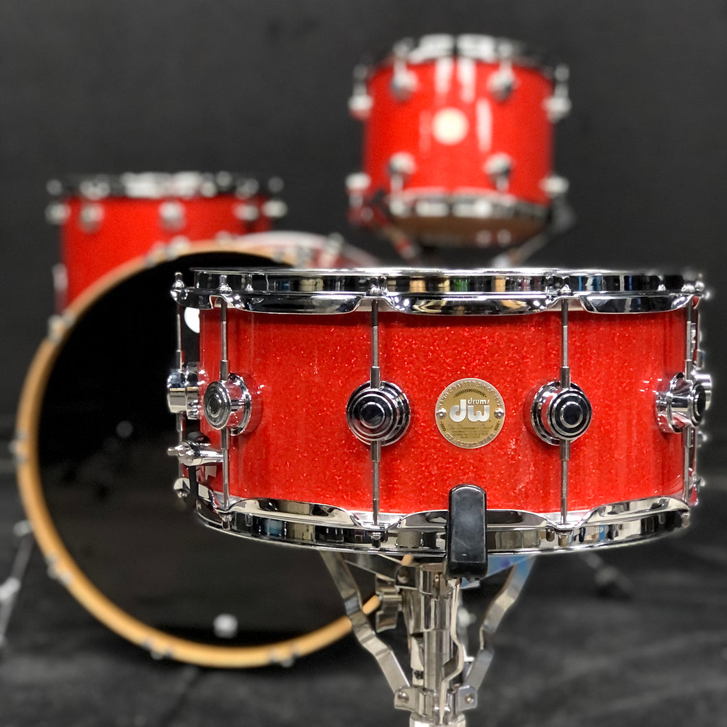 DW Collector's Series Snare - Tangerine Glass - 14