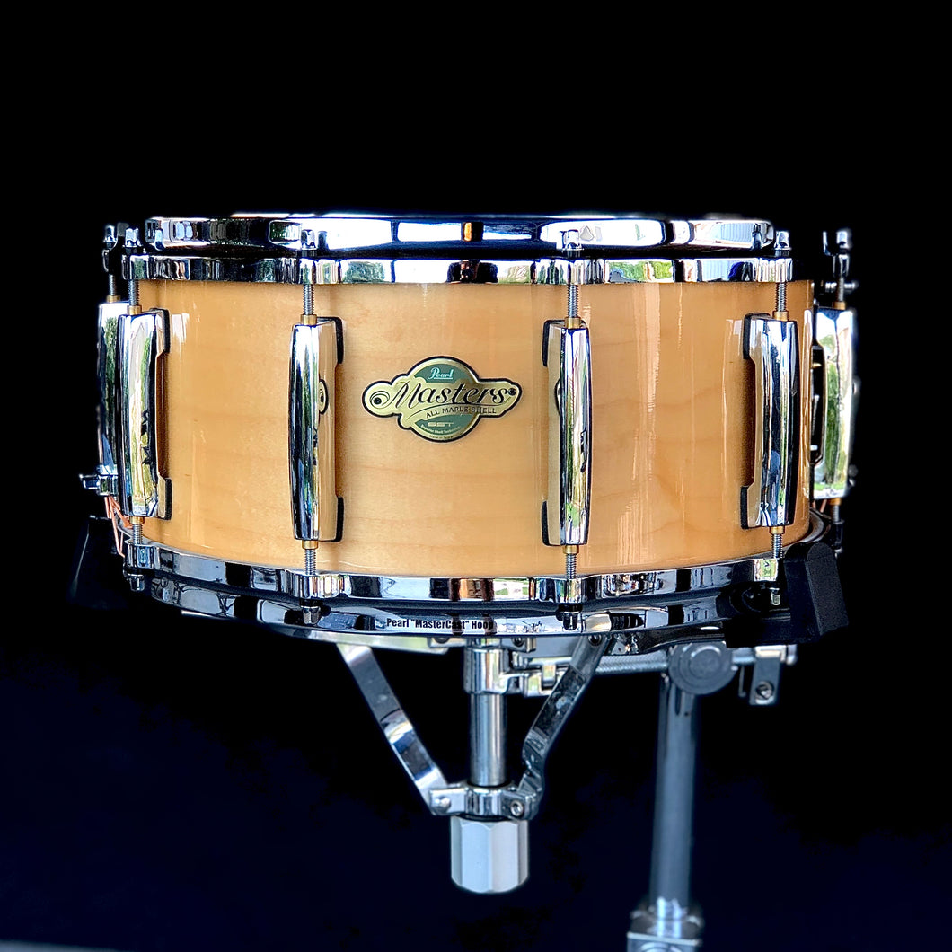 Pearl Masters Maple Snare - Natural Lacquer - 14