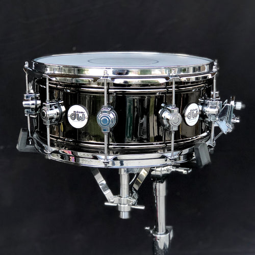 DW Design Series Black Nickel Over Brass Snare Drum - 14