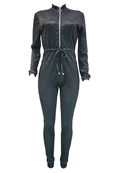 Pomiss Trendy Zipper Blending jumpsuit